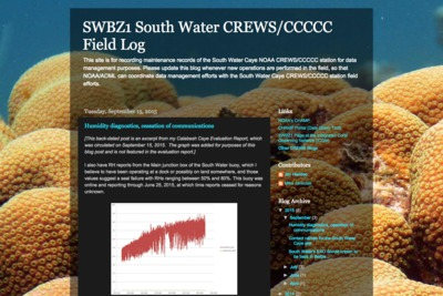 South Water Caye Field Log