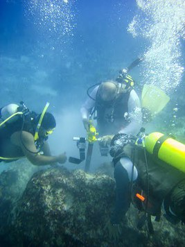 Underwater Drilling for the Lao Lao Bay CREWS Station