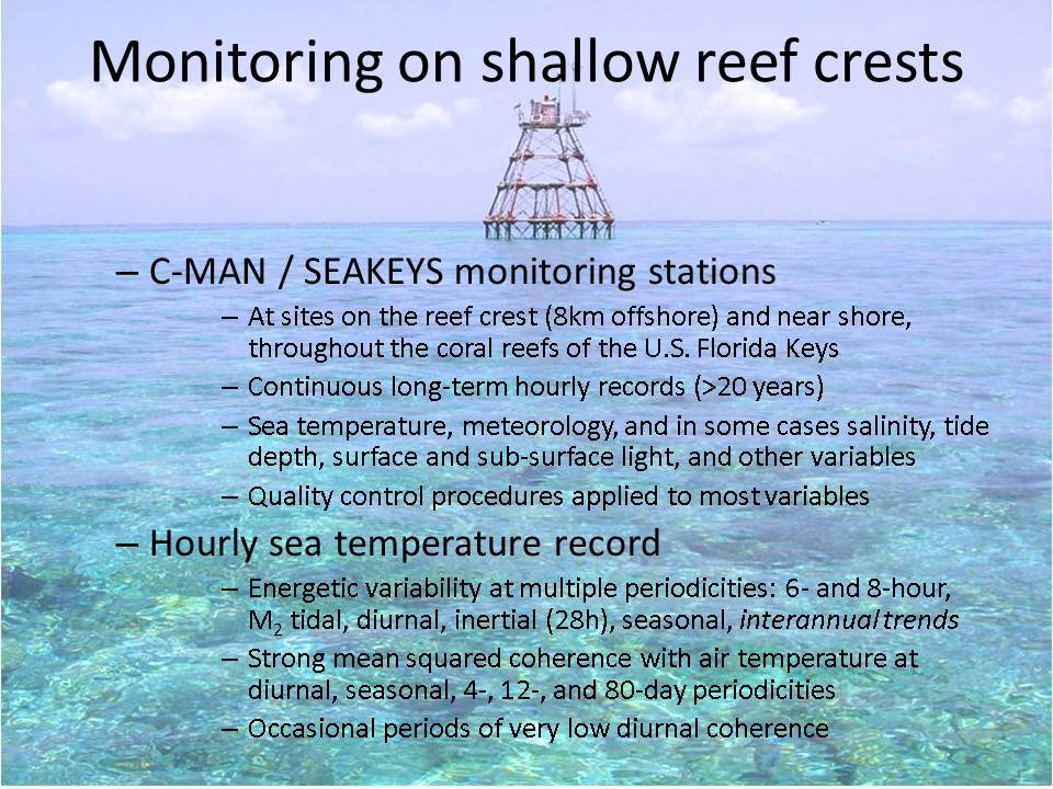 Slide: Monitoring on shallow reef crests